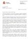 Respuesta de la Secretaría de Estado de Investigación, Desarrollo e Innovación a la carta sobre E-ELT